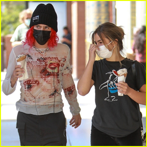 Addison Rae Grabs Ice Cream with Boyfriend Omer Fedi