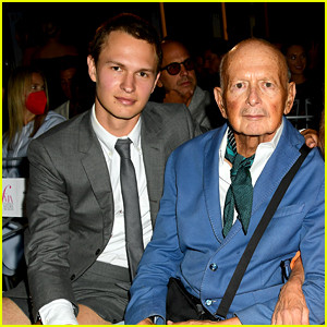 Ansel Elgort Makes a Rare Appearance During NYFW!