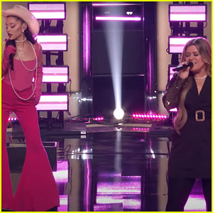 Ariana Grande & Kelly Clarkson Sing 'Respect' On 'The Voice' Premiere - Watch!