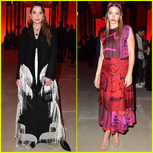 Ashley Benson & Madelyn Cline Step Out For Salvatore Ferragamo's Milan Fashion Week Show