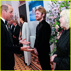 Billie Eilish & Finneas Meet Prince William & Duchess Kate at 'No Time To Die' Premiere