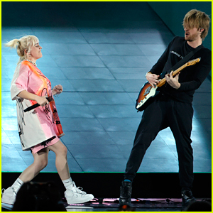 Billie Eilish Rocks Out With Finneas at iHeartRadio Music Festival 2021