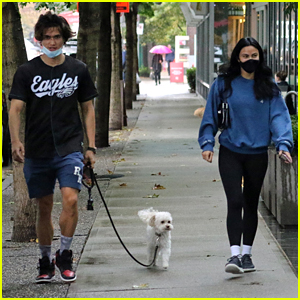 Charles Melton & Camila Mendes Take Her Dog For a Walk Together (Photos)