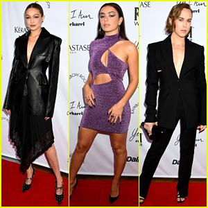 Gigi Hadid, Charli XCX & Tommy Dorfman Present at Daily Front Row Awards