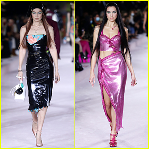 Gigi Hadid & Dua Lipa Hit The Runway For Versace at Milan Fashion Week!