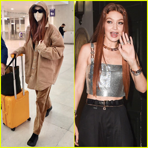 Gigi Hadid Jets Off to Paris After Stepping Out for Fendace After Party