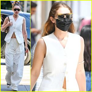 Gigi Hadid Wears All White For New York City Outing