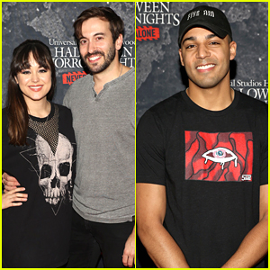 Hayley Orrantia, Michael Evan Behlings & More Check Out Halloween Horror Nights