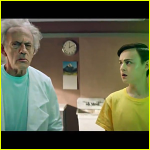 Jaeden Martell & Christopher Lloyd Turn Into Live Action 'Rick & Morty' In New Clip