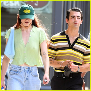 Joe Jonas Steps Out For A Stroll With Sophie Turner