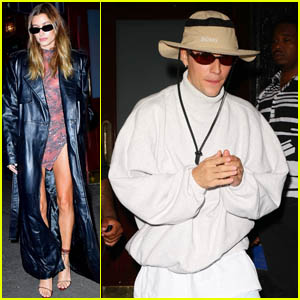 Justin & Hailey Bieber Step Out for Scooter Braun's Star-Studded Private Dinner in NYC