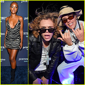 Justine Skye & The Kid LAROI Support Justin Bieber at 'Our World' NYC Premiere