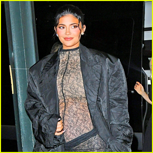 Pregnant Kylie Jenner Wows in a See-Through Outfit (Photos)
