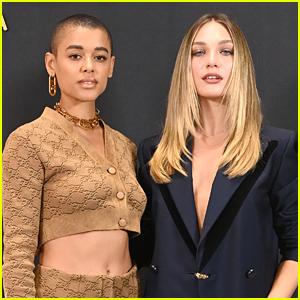 Maddie Ziegler & Jordan Alexander Sit Front Row at Fendi's Milan Fashion Week Show