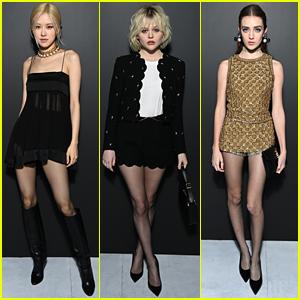 Rosé, Emily Alyn Lind & Talia Ryder Attend Saint Laurent's Paris Fashion Week Show