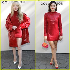 Sabrina Carpenter & Lucy Hale Match at Michael Kors Collection Fashion Show!