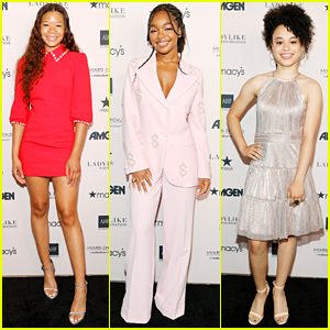Storm Reid Attends Ladylike Foundation Event Before Chopping Her Hair Off for Met Gala