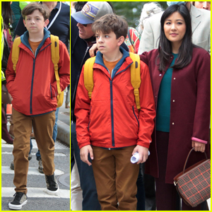 Winslow Fegley & Constance Wu Spotted on Set Together for 'Lyle, Lyle, Crocodile' in NYC!