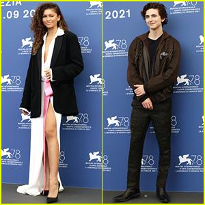 Zendaya & Timothee Chalamet Bring 'Dune' To Venice Film Festival 2021