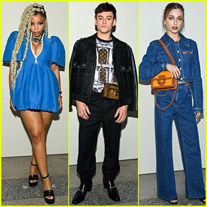 Chloe Bailey, Tom Daley & More Attend Louis Vuitton Paris Fashion Show