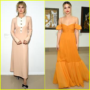 Debby Ryan & Madelyn Cline Attend Giambattista Valli Fashion Show In Paris
