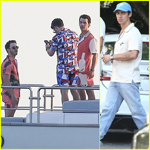The Jonas Brothers Spend the Day Filming for a New Project in Miami!