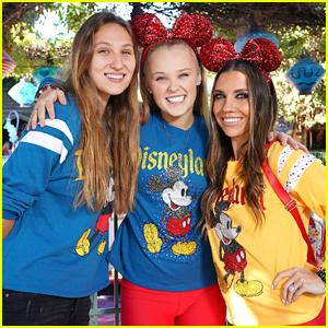JoJo Siwa's Girlfriend Kylie Joins Her & Jenna Johnson at Disneyland Ahead of 'DWTS' Disney Night