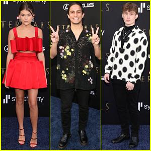 Marvel Stars Lia McHugh, Aramis Knight & Matt Lintz Attend 'Eternals' Premiere