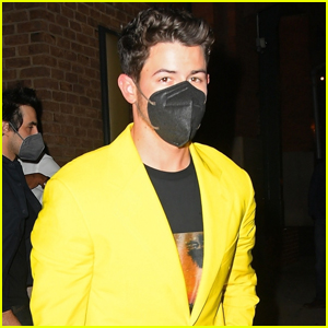 Nick Jonas Goes Bright & Colorful for Benefit Event in New York City!