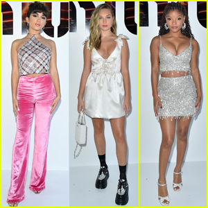 Maddie Ziegler, Halle Bailey & Rowan Blanchard Strike a Pose at Miu Miu Fashion Show in Paris
