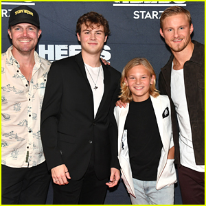 Stephen Amell & Alexander Ludwig Pose With Younger Selves at 'Heels' Season Finale Screening
