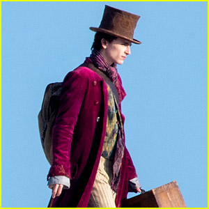 Timothee Chalamet Films a Beach Scene for 'Wonka' Movie - See the Set Photos!
